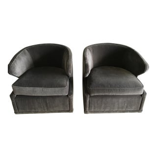 Mid-Century Style Swivel Chairs - A Pair