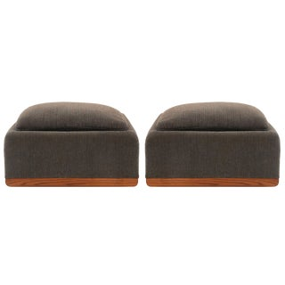 Large Scale Upholstered Ottomans by Charles Gibilterra for Dunbar