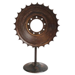 Industrial Iron Sun Gear Mirror