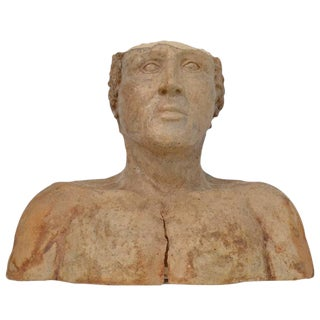 Neoclassical Style Pottery Bust