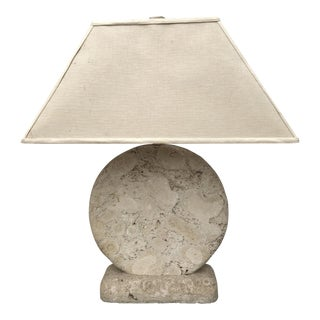 Fossilized Stone Table Lamp