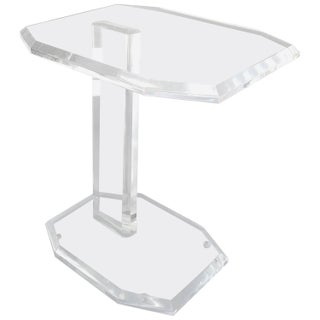 Mid-Century Thick Lucite Side or Drinks Table