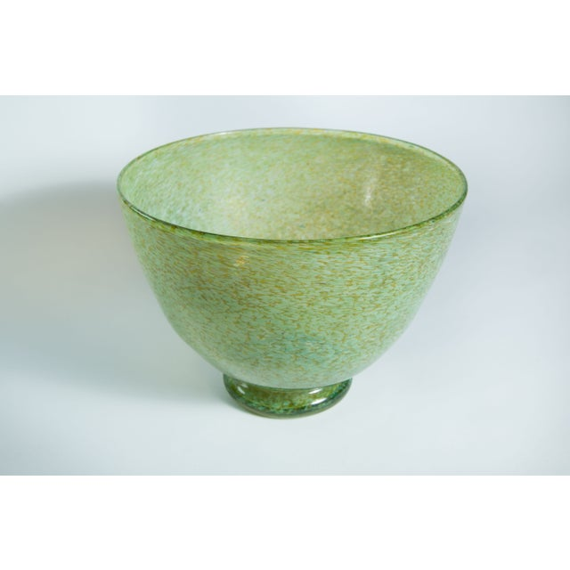 Hand-Blown Green Bowl - Image 4 of 4