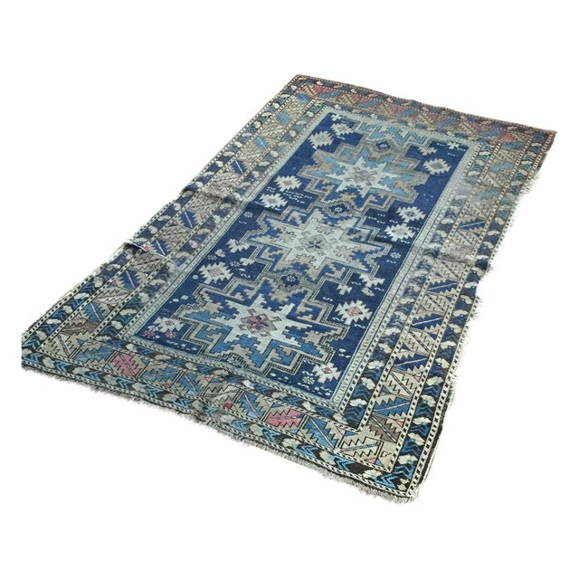 Antique Shirvan Persian Rug - 3′4″ × 5′2″ - Image 1 of 4