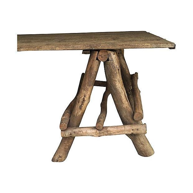 French Rustic Farmhouse Style Table - Image 4 of 4