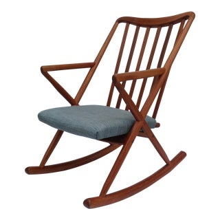 Benny Linden Danish Mid-Century Teak Rocking Chair