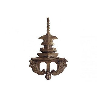 Brass Chinoiserie Monkey Pagoda Door Knocker