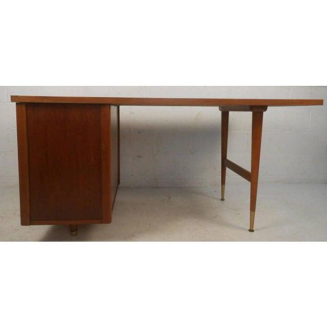 John Widdicomb Mid-Century Finished Back Executive Desk - Image 7 of 10