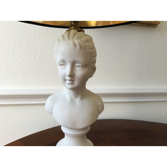 1940's Porcelain Bust Lamp W/Shade - Image 6 of 8