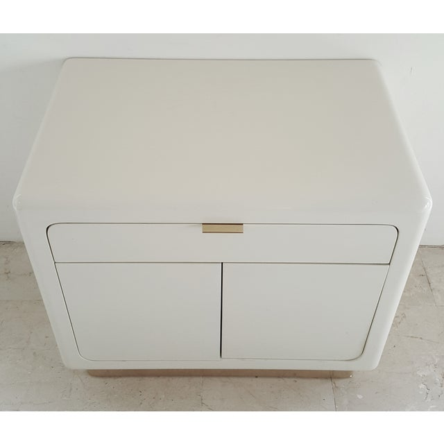 1970's Lacquered & Brass Plinth Side Cabinet - Image 3 of 6