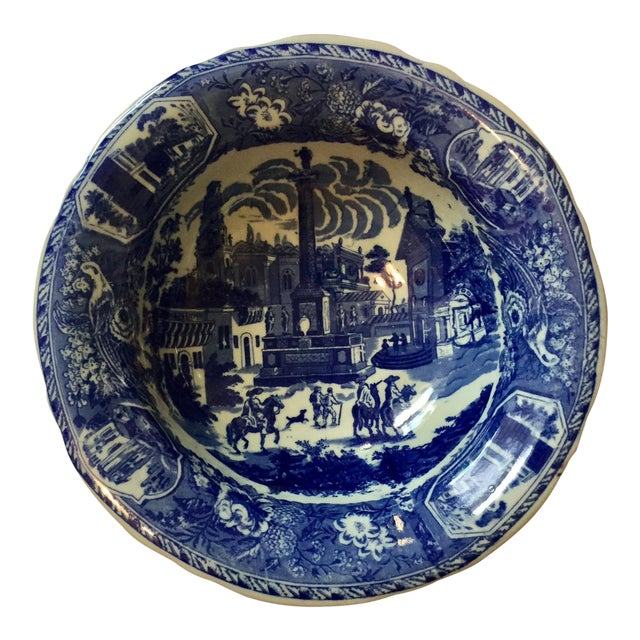 Victoria Ware Blue Town Ironstone Bowl - Image 1 of 6