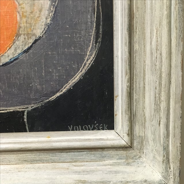 Two Oranges Mid-Century Painting by Jean Volovsek - Image 3 of 4