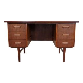 "Danish Original Teak 6 Drawer Desk - ""Minna"""