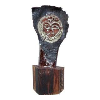 Mid-century Brutalist Ceramic Owl Sculpture