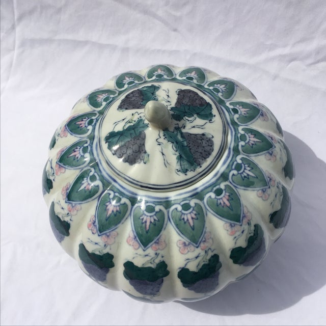 Vintage Chinoiserie Gourd Style Ginger Jar - Image 5 of 5
