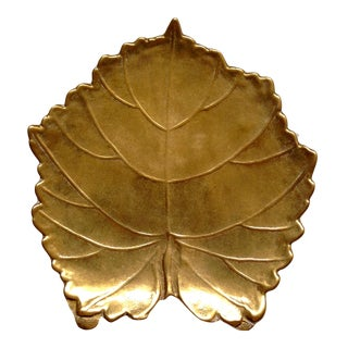 Brass Leaf Letter Holder