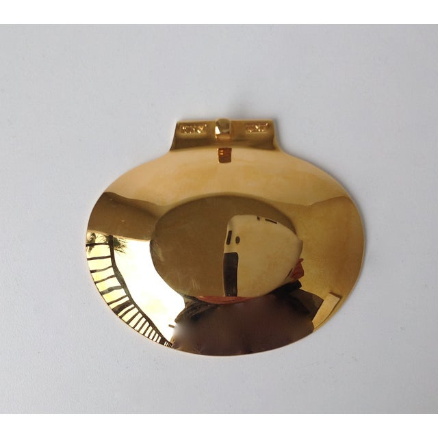 Image of Gold Plated Fanned Shell-Shape Ring Dish