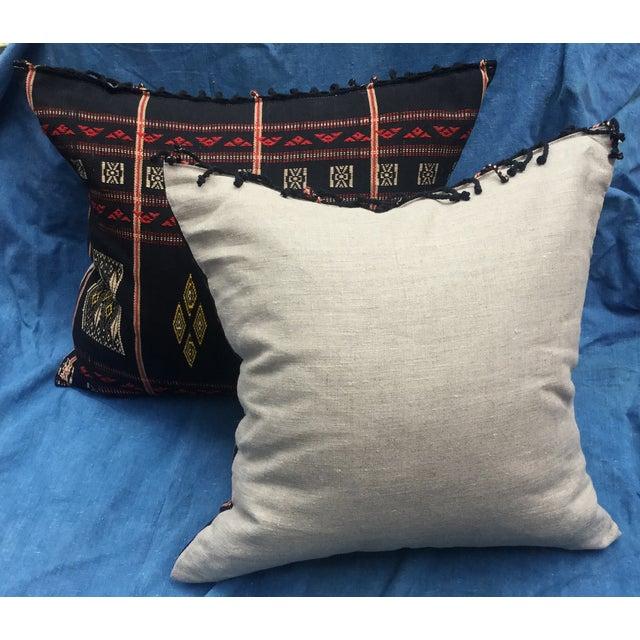 Burmese Chin Tribal Textile Pillows - A Pair - Image 7 of 7