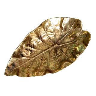Virginia Metalcrafters Brass Tarro Leaf Dish