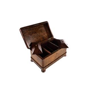 19th Century Antique Burl Walnut Cigar Humidor