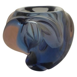 Blue And Pink Murano Glass Vase