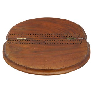 Antique English Folding Cribbage Board