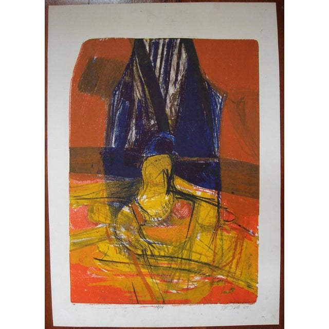 Howard Foote, 1959 San Francisco Abstract Expressionist Print - Image 2 of 4