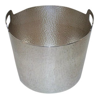 Hammered Style Ice Bucket With Ice Tongs