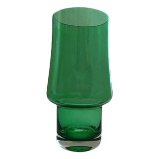 Mid-Century Riihimäki Finnish Green Vase