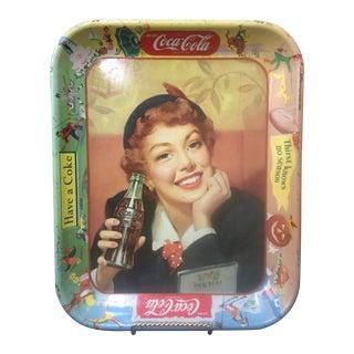 Vintage Coca Cola Advertising Tray C. 1950's