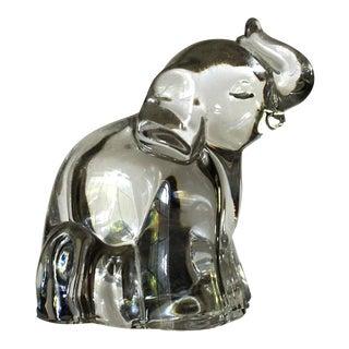 Vintage Crystal Baby Elephant Salt Shaker