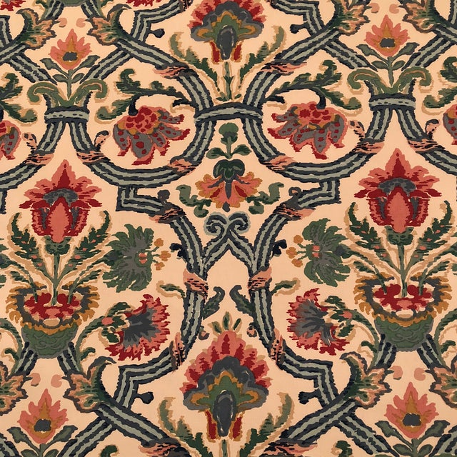 """Lee Jofa's """"New Sevilla"""" in Multi Linen Fabric - Almost 3 Yds - Image 2 of 7"""