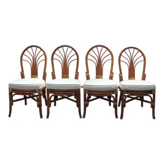 Vintage Rattan Dining Chairs - Set of 4