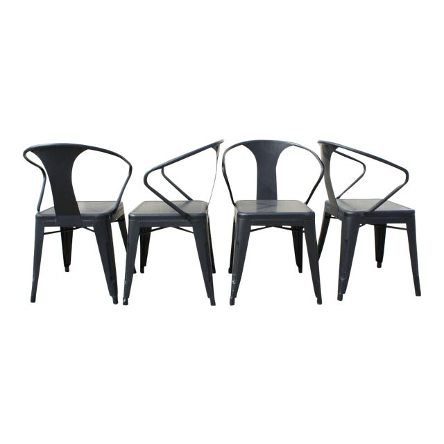 Tolix Dining Chairs- Set of 4 - Image 1 of 9