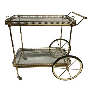 Mid-Century French Brass Bar Cart