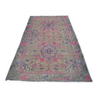 Turkish Pink Rug - 4′4″ × 7′10″