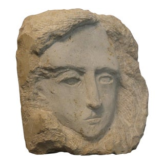 """Visage of Elizabeth"" Stone Sculpture"