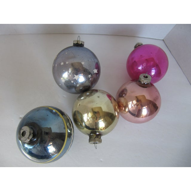 Image of Christmas Ornaments Shiny Brite - S/5