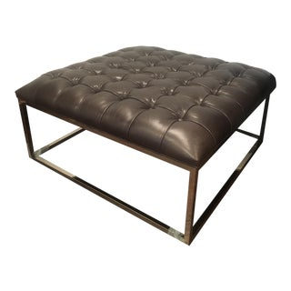 Mitchell Gold & Bob Williams Hines Leather Ottoman