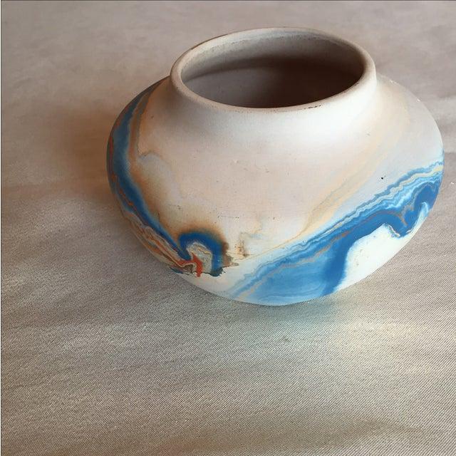 Nemadji Native American Marbelized Vase - Image 5 of 8