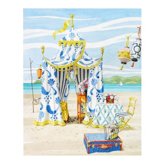 """The Blue & White Tent"" Giclée Print"