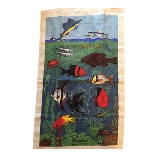 Vintage Tropical Sea Life Tea Towel