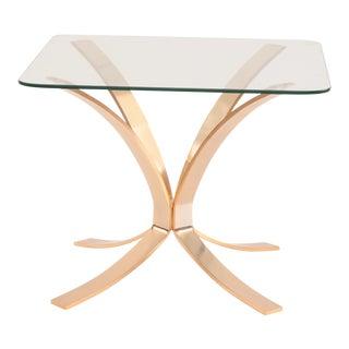 Roger Sprunger for Dunbar Bronze & Glass Side Table