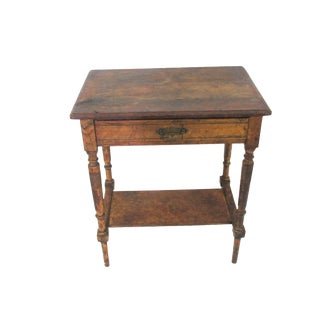 Antique Oak Tavern Farmhouse Side Accent Table