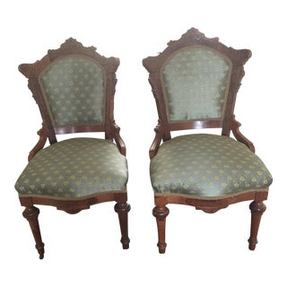 Victorian Style Side Chairs - A Pair