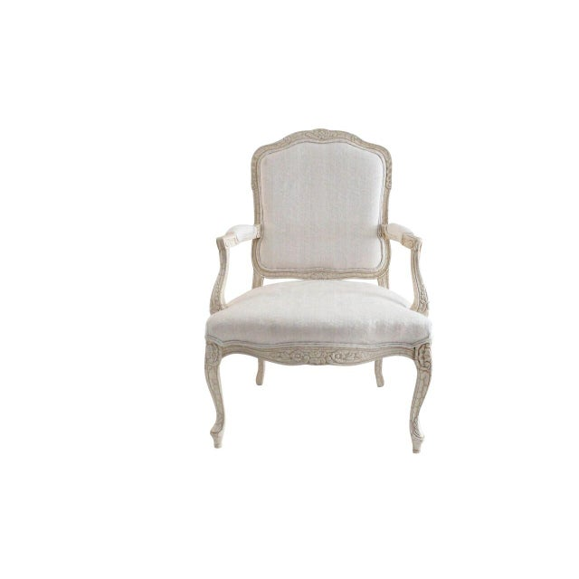 Image of White Louis XV Style Armchairs - Pair