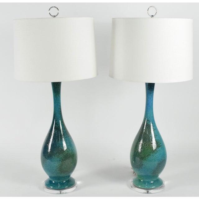 Image of Royal Haegar Drip Glaze Lamps- A Pair