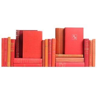 Mid-Century Red & Orange Books - S/20