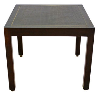 Dunbar Parsons Wood Side Table with Brass Inlay
