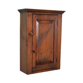 Custom Solid Pine 1 Door Hanging Wall Cabinet